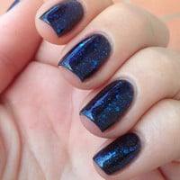 Nail polish  Blueprint blue and purple glitter in by EmilydeMolly