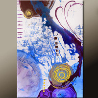 Abstract Art Painting 36x24 Canvas Original Contemporary Modern Art Paintings by Destiny Womack - dWo - Chaos In motion