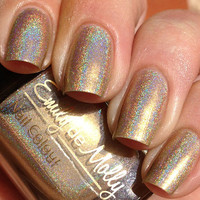 Nail polish  High Distinction light gold linear by EmilydeMolly