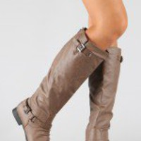 Coco-1 Buckle Riding Knee High Boot