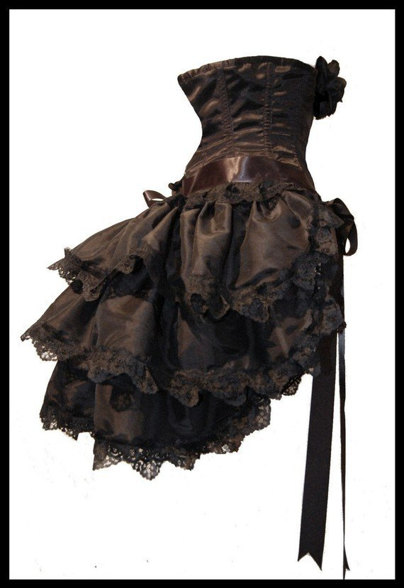 gothic burlesque steampunk bustle skirt from