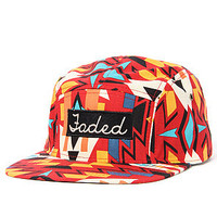Faded Royalty Hat Aztec 5-Panel in Red