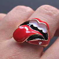 Punk &amp; Rock Fashionable Hot Rolling Stones Pattern Ring  from gigima99