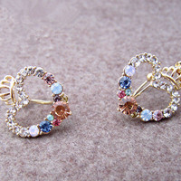 accessoryinlove  Rhinestone Heart Crown Ear Cuff with SWAROVSKI Elements