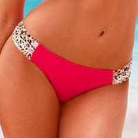 Side Ruched Low-rise Hipkini Bottom