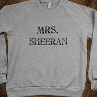 Mrs. Sheeran - Ed Sheeran Shirts - Skreened T-shirts, Organic Shirts, Hoodies, Kids Tees, Baby One-Pieces and Tote Bags