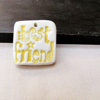 Ceramic Shard Pendant Best Friend Pottery Shard
