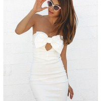 White Bow Dress