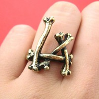 SALE - Sticks and Bone Ring in Bronze Size 5 ONLY