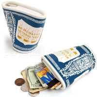 LUCKY BEGGAR WALLET -We Are Happy To Serve You NY Coffee Cup Mug