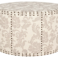 One Kings Lane - The Fine Print - Sarah Ottoman, Beige/Cream