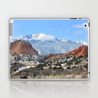 Snow at the Garden of the Gods, Colorado Springs Laptop & iPad Skin by Trinity Bennett