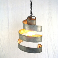 $35.00 Wine Barrel Ring Hanging Pendant Light  by winecountrycraftsman