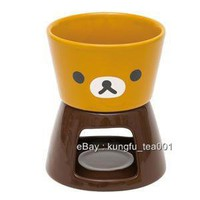 Rilakkuma Cheese Chocolate Ceramic Fondue w Forks Set - Hong Kong