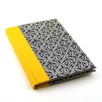 Nauli handmade Address Book yellow blue