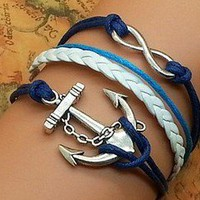 Anchor Infinity Bracelet from MostImpact