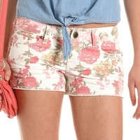 Hot Kiss Floral Print Short: Charlotte Russe
