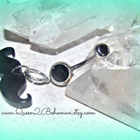 Belly Button Ring Mustache Hipster Direct Checkout Ready to Ship