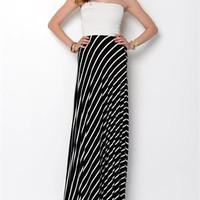 Auditions Fashions Striped Strapless Maxi Dress- Made in USA - The Dress Shop - Modnique.com