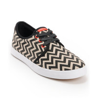 Dekline River Black & White Chevron Canvas Skate Shoe