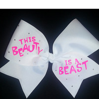 This Beauty Is A Beast w/ Rhinestones Bow