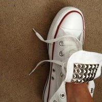 Pyramid studded hand customised Converse from Lizzi476