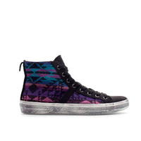 ETHNIC PATTERN HIGH-TOP SNEAKER