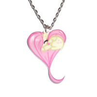 Fluttershy Heart Necklace, Kawaii MLP Friendship is Magic
