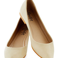 Defined the Scenes Flat in Chai | Mod Retro Vintage Flats | ModCloth.com