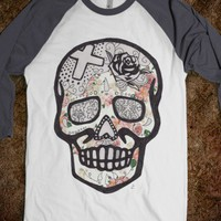 Skull Baseball Tee - Citygirl Tees - Skreened T-shirts, Organic Shirts, Hoodies, Kids Tees, Baby One-Pieces and Tote Bags