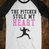 The Pitcher Stole My Heart - Jesse's Store - Skreened T-shirts, Organic Shirts, Hoodies, Kids Tees, Baby One-Pieces and Tote Bags