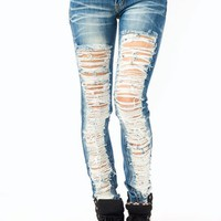 shredded-distressed-skinny-jeans MEDBLUE - GoJane.com