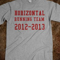 horiizontaal runnin - justforlindz - Skreened T-shirts, Organic Shirts, Hoodies, Kids Tees, Baby One-Pieces and Tote Bags