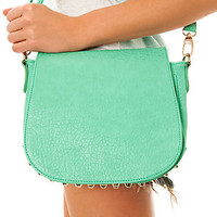 *Accessories Boutique The Studded Messenger Bag in Mint : Karmaloop.com - Global Concrete Culture