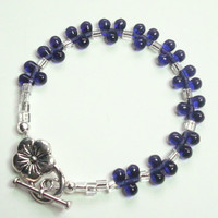Tanzanite Teardrop Silver Bracelet