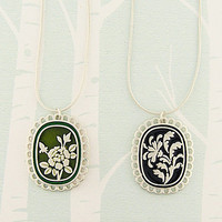 LAVISHY Rose Enamel Reversible Necklaces