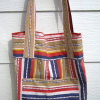 Large Tote Beach Bag Reversible Cotton Tote Bag Shopping Bag