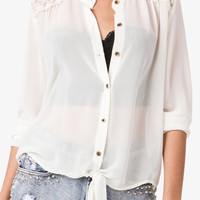 Floral Embroidered Shirt | FOREVER 21 - 2021841369