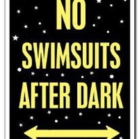 Amazon.com: NO SWIMSUITS AFTER DARK ~Sign~ pool spa hot tub nudist: Patio, Lawn & Garden