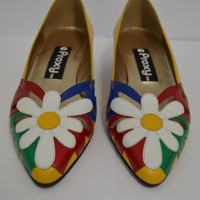 1980's Proxy Daisy Flower Shoes