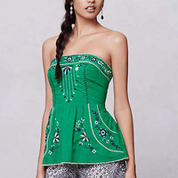Anthropologie - Grassland Embroidered Corset