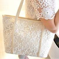 Elegant Crochet Lace Shoulder Bag