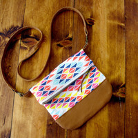 The City Bag  - Sunset Rainbow - Cross body bag / purse / fold over