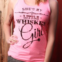 Whiskey Girl Tank Top - Neon Pink | TumbleRoot