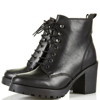 AMPLE Black Heavy Sole Boots - Sale - Sale &amp; Offers - Topshop USA