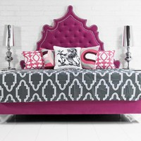www.roomservicestore.com - Casablanca Bed in Pink Velvet