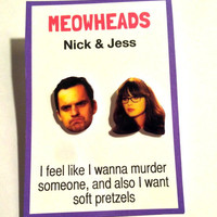 Jess & Nick // New Girl earrings