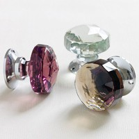 Glass & Chrome Door Knobs