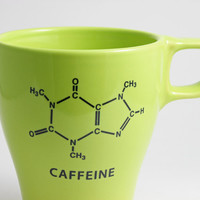 Spring Green Caffeine Chemistry Coffee Mug