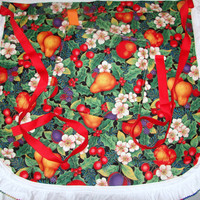 Half Apron Fruit with Ruffle Trim and Matching Pot by bagsbyhags45